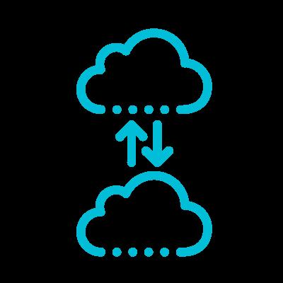 Cloud data backup icon