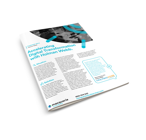 Accelerating Digital Transformation with Holman Webb - Case study